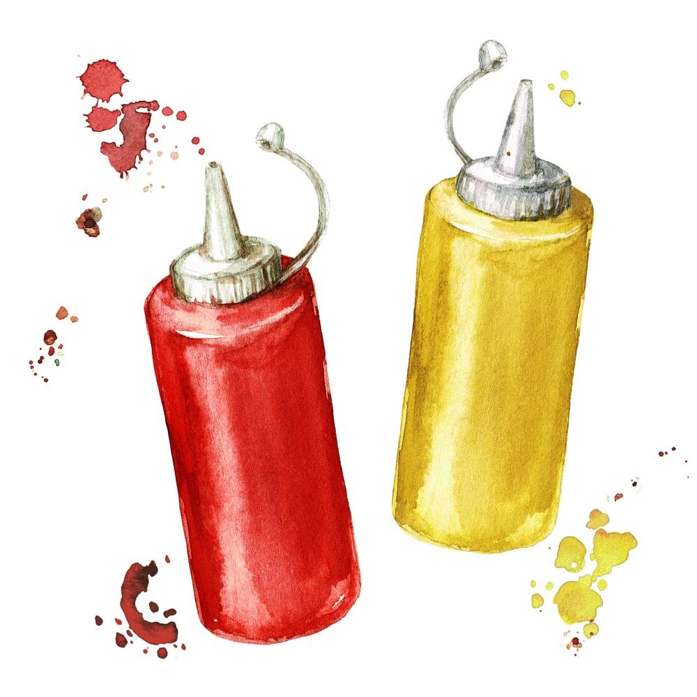 Ketchup and Mustard Illustration