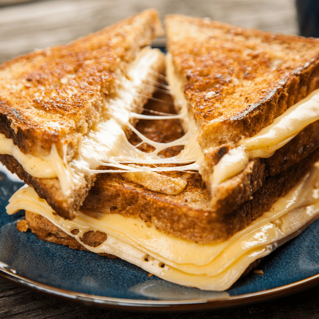 Grilled Cheese Sandwich Close-Up