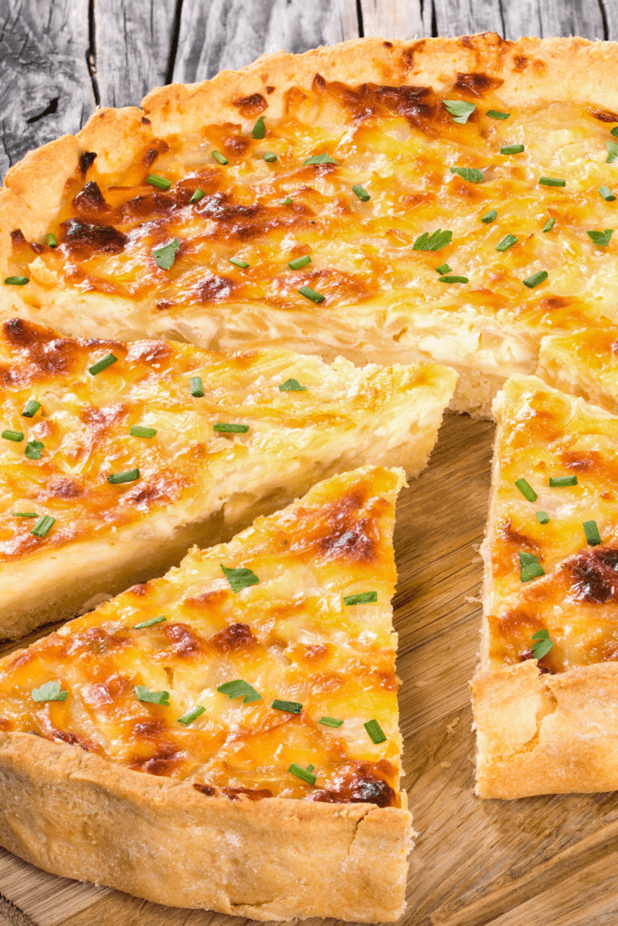 Quiche With Chopped Onions