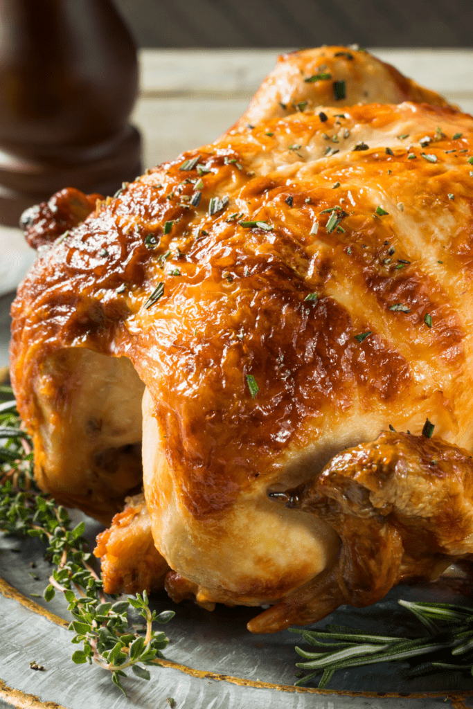 Homemade Rotisserie Chicken with Herbs