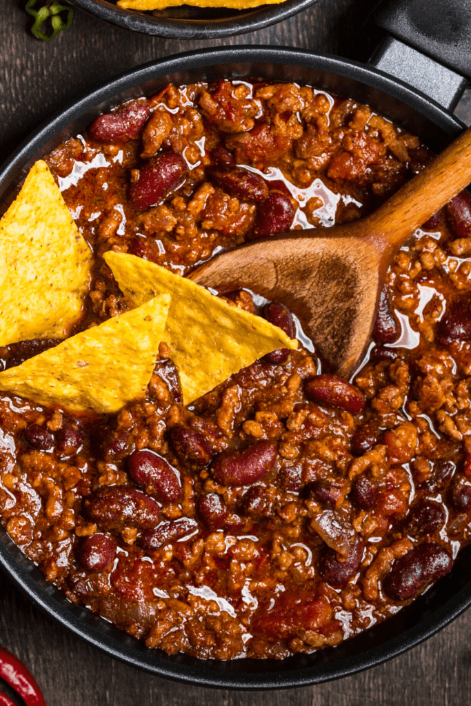 Texas House Roadhouse Chili with Tortilla Chips