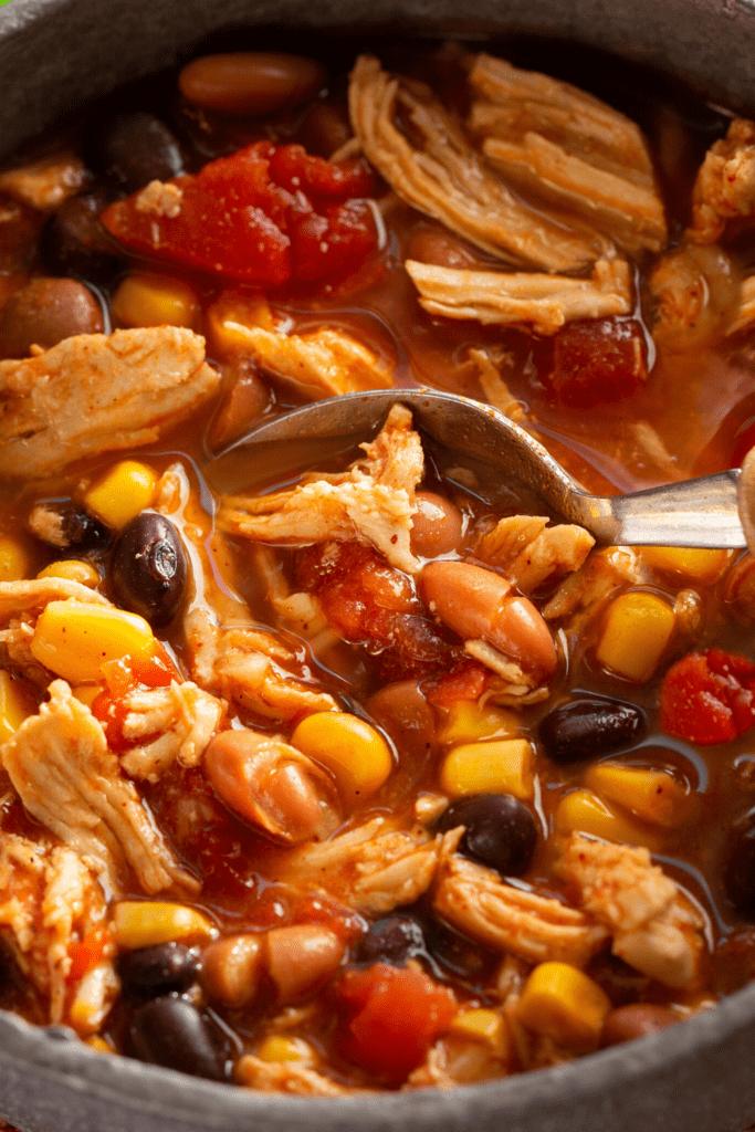 Homemade Chicken Taco Soup