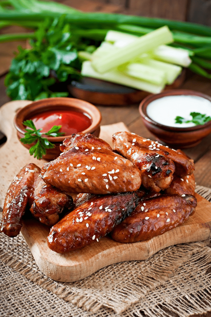 Baked Chicken Wings With Dipping Sauce