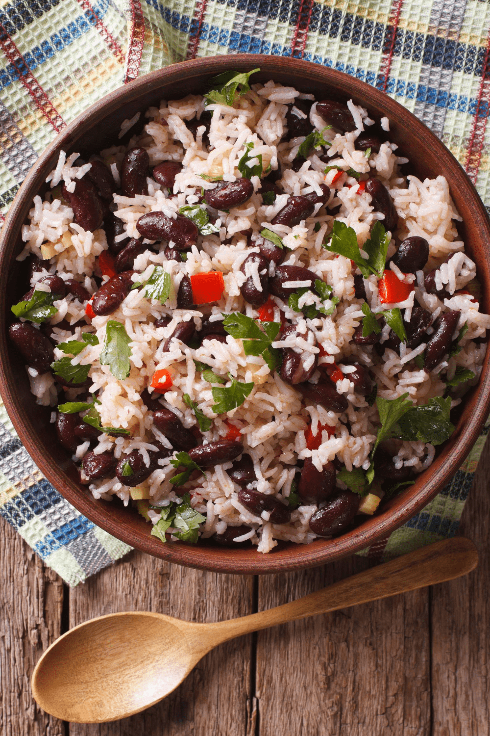 Black Beans with Avocado and Onions