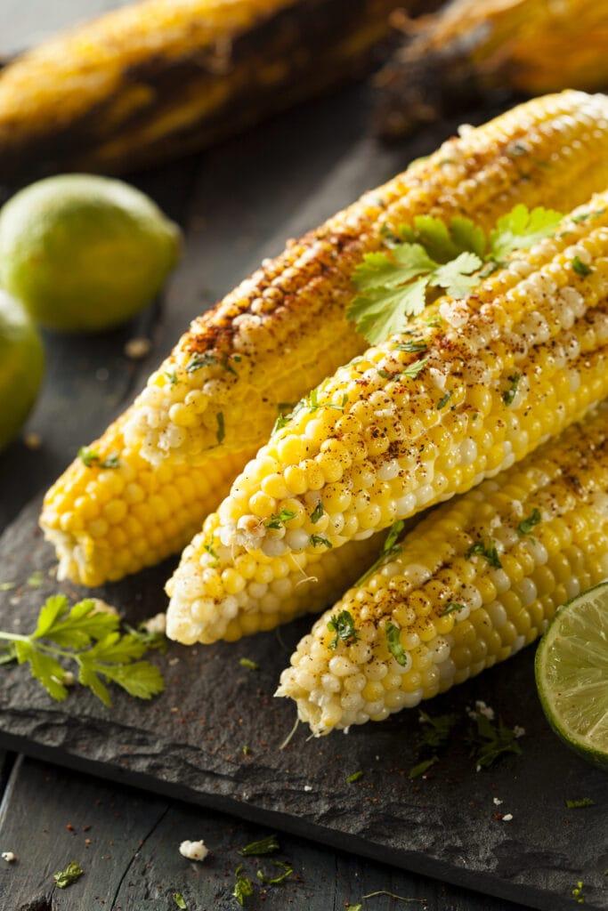 Corn on The Cob With Lemon