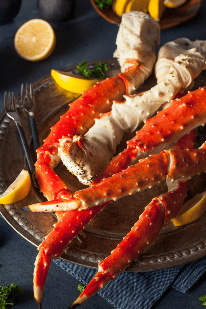 Crab Legs With Lemon