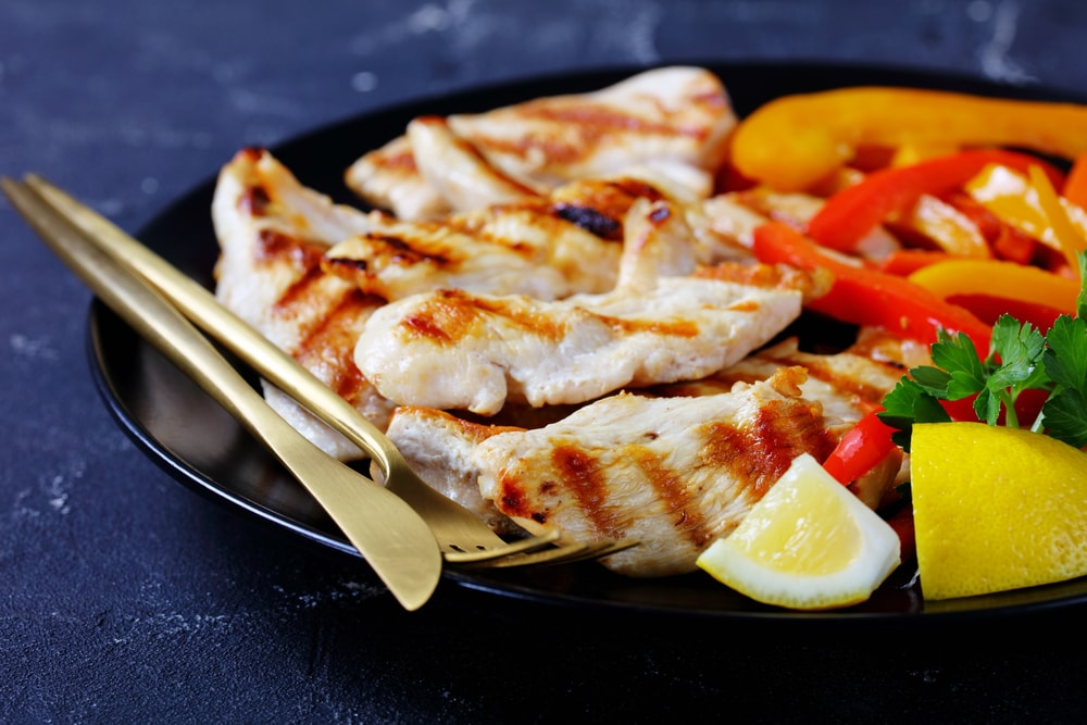 Grilled Chicken Strips With Tomatoes