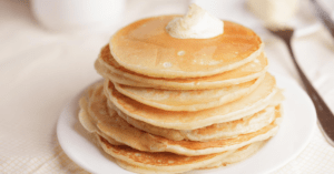 Homemade Pancakes With Cream