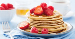 Homemade Strawberry Pancakes