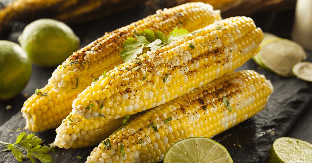 Stacks of Corn On The Cob