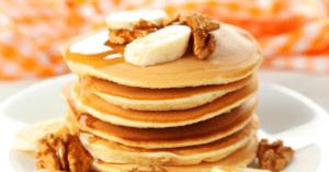 Pancake With Banana and Maple Syrup