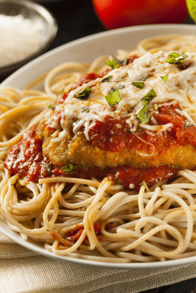 Pasta with Chicken Parmesan