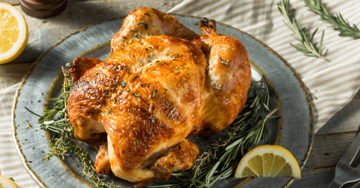 Rotisserie Chicken with Herbs and Lemons