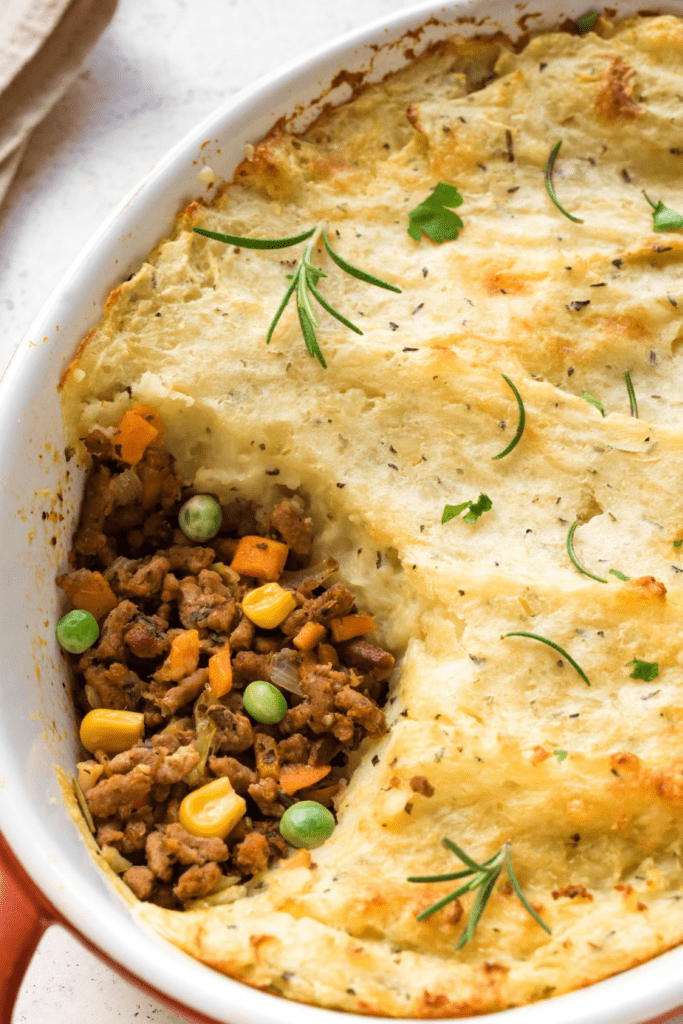 Shepherd's Pie with Corn and Peas