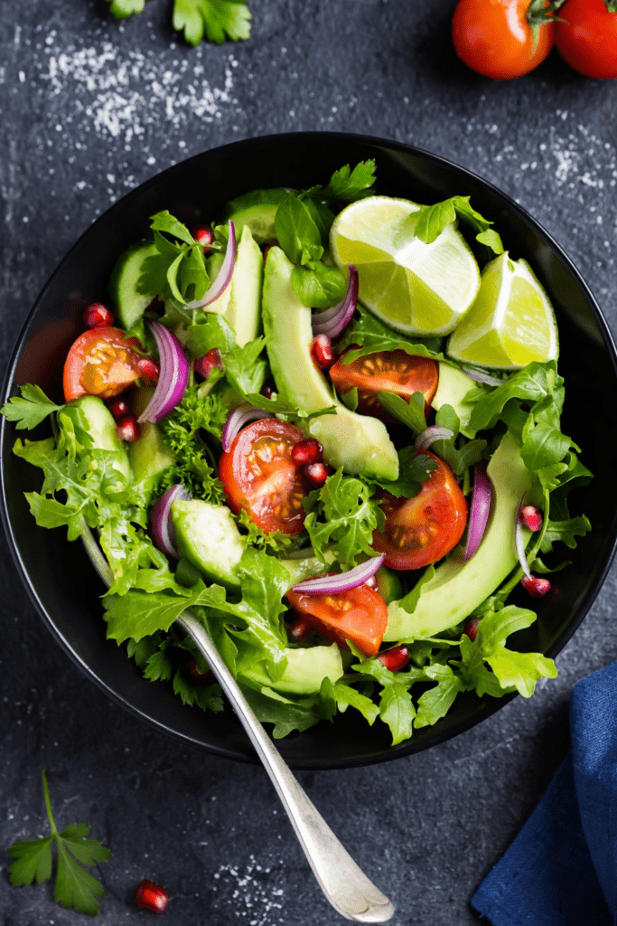 Avocado, Tomato and Arugula Salad