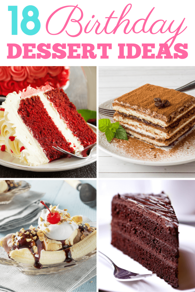 18 Birthday Dessert Ideas