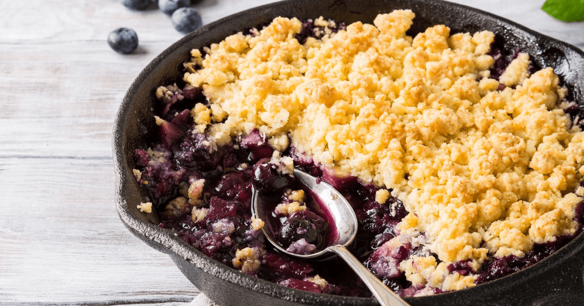 Coconut Crumble with Blueberry and Apples