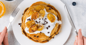 Pancakes with Bananas and Chocolate Chips