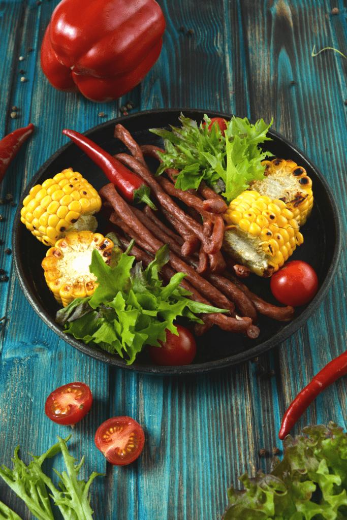 Bowl of Chorizo and Corn