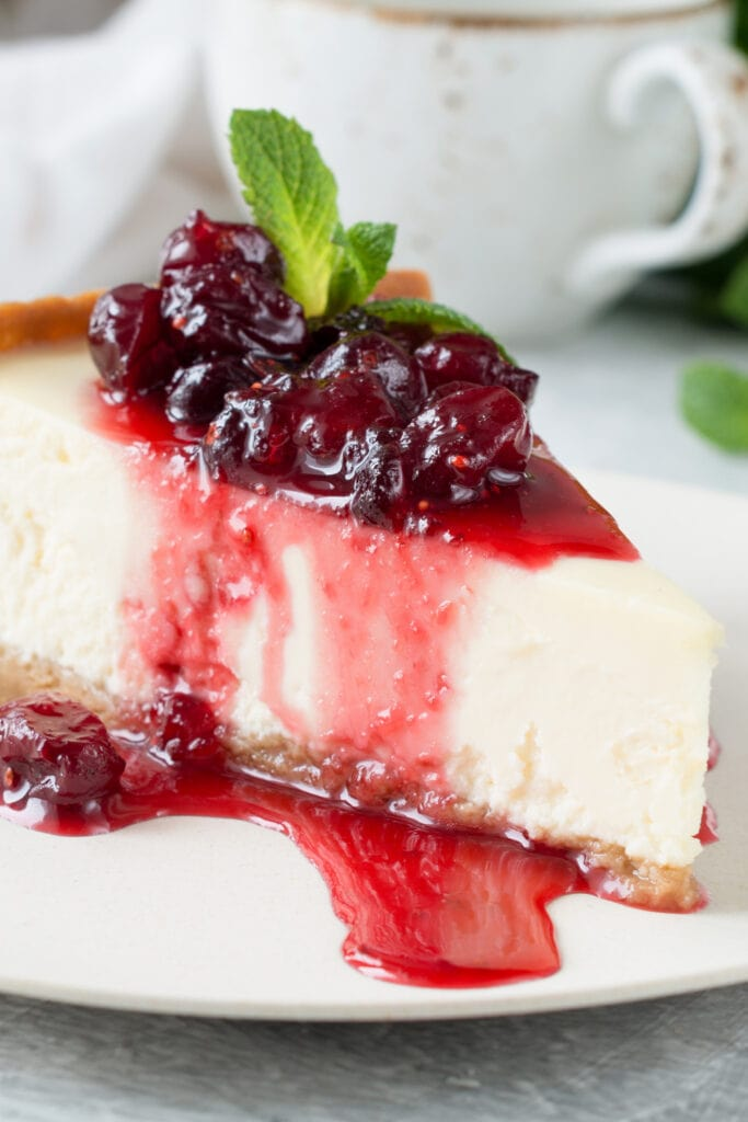 New York Cheesecake with Berry Sauce
