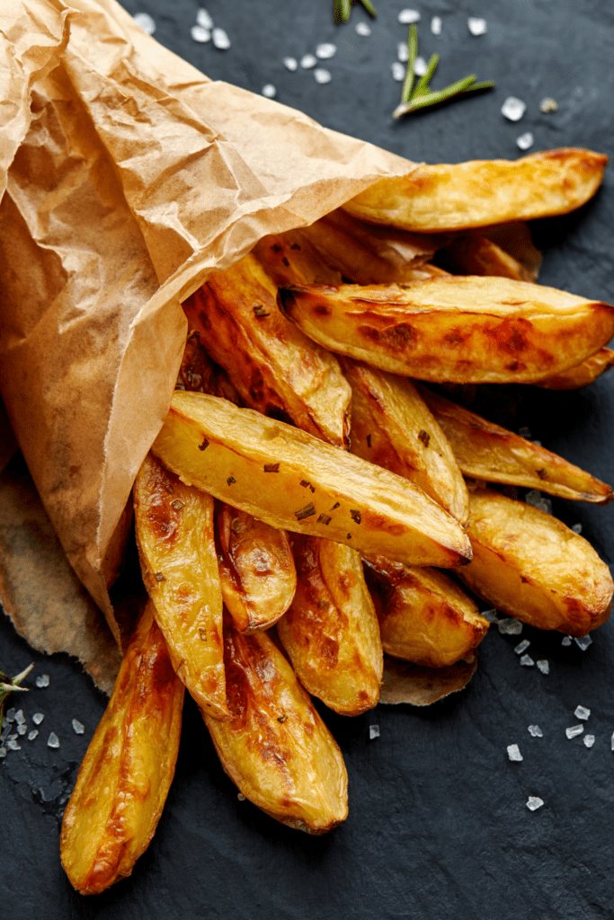 Baked French Fries with Salt