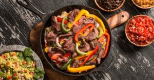 Beef Steak Fajita With Guacamole and Salsa