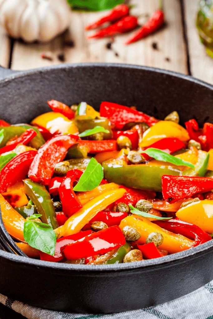 Bell Peppers in Skillet