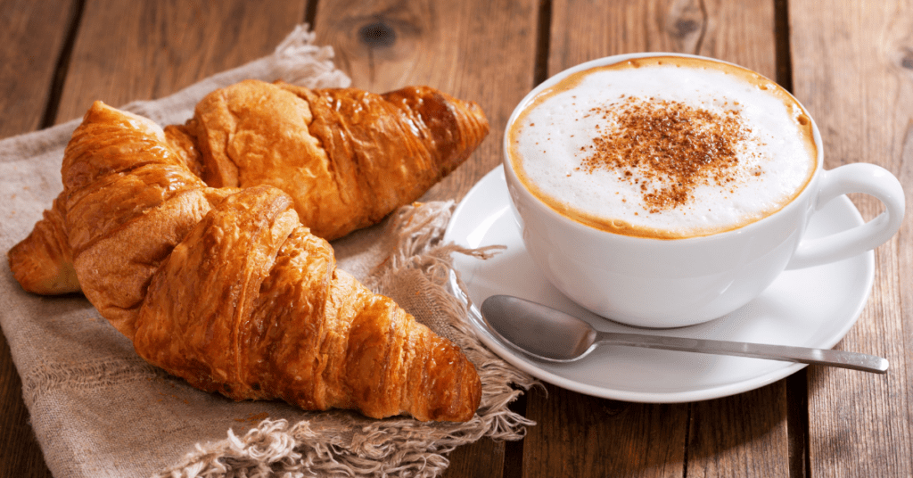 Breakfast Croissants with Coffee
