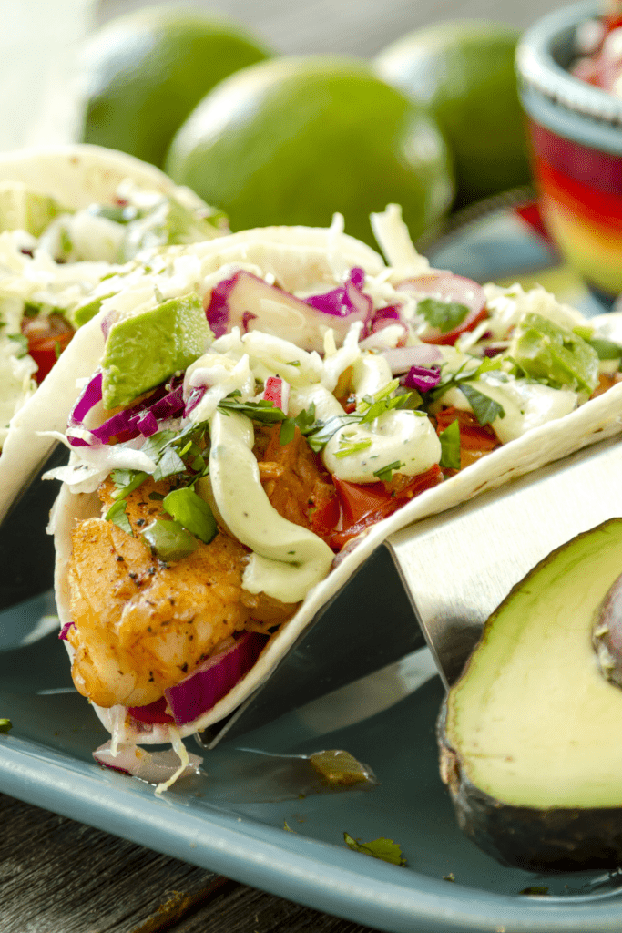 Fish Tacos with Avocado and Veggies