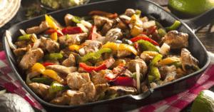 Homemade Chicken Fajitas with Vegetables