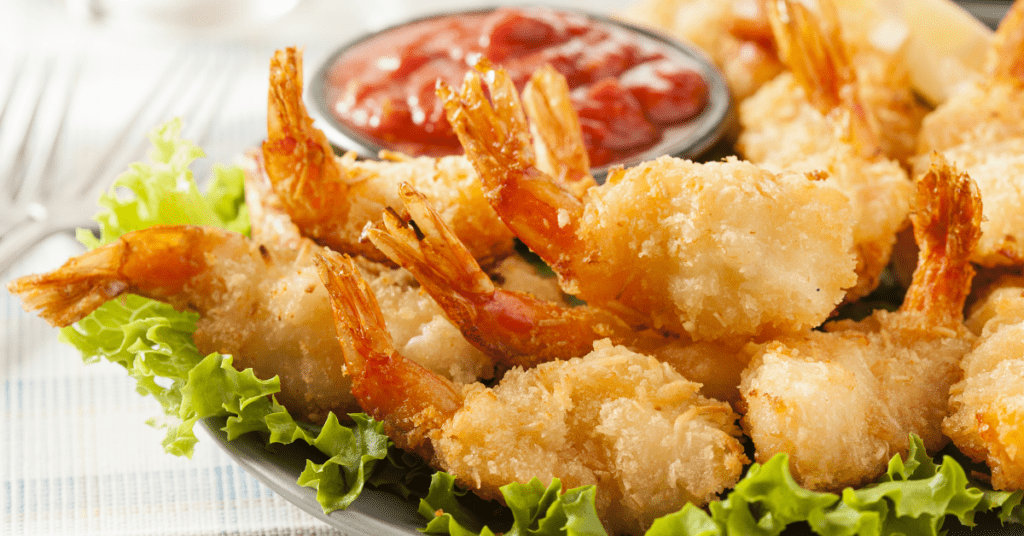 Homemade Coconut Shrimp With Tomato Sauce
