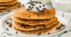 Homemade Pancakes with Chocolate Chips