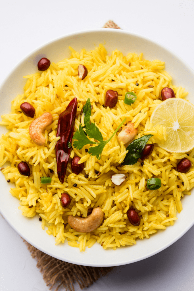 Lemon Rice with Nuts