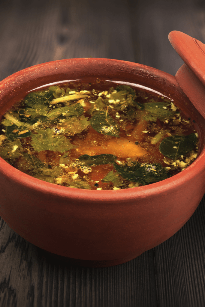 South Indian Rasam in a Bowl
