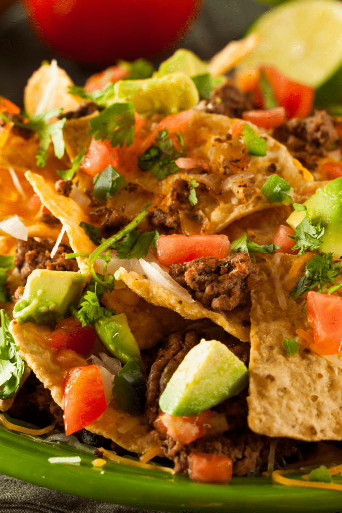 Loaded Beef Nachos with Veggies