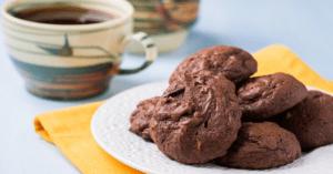 Chocolate Icebox Cookies with Coffee