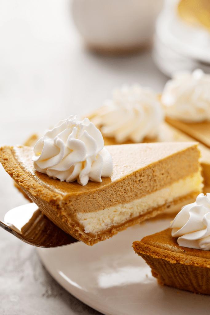 Pumpkin Layered Cheesecake Pie