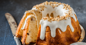Homemade Bundt Cake with Chopped Almonds