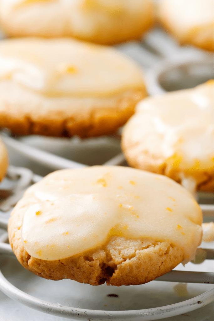 Homemade Cookies With Lemon Glaze