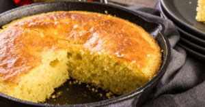 Homemade Cornbread in Skillet