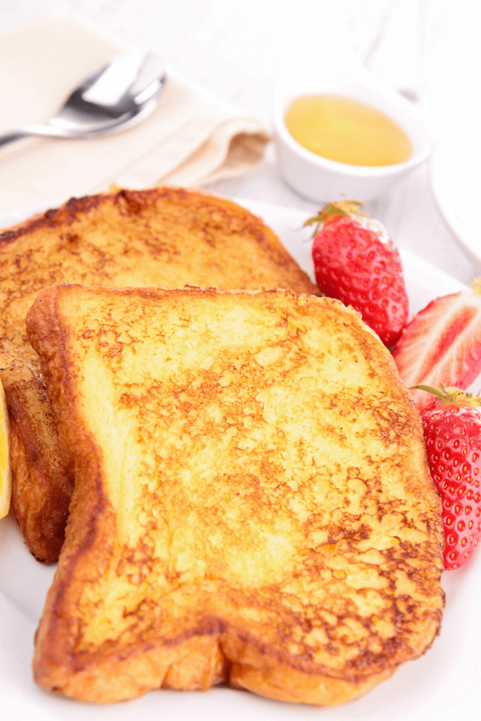 Homemade French Toast with Strawberry and Syrup
