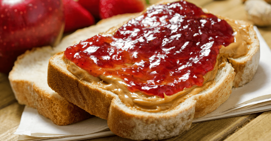 Homemade Peanut Butter and Jelly Sandwiches