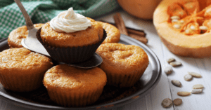 Homemade Pumpkin Muffins with Cream Cheese