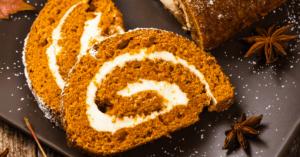 Homemade Pumpkin Roll with Cream Cheese