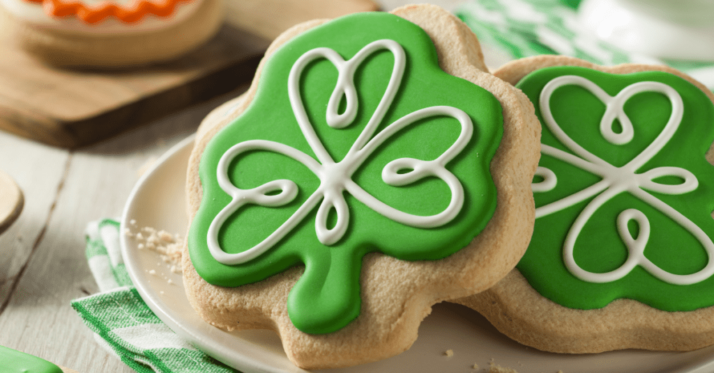 Homemade Shamrock Cookies