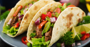 Mexican Beef Taco with Veggies