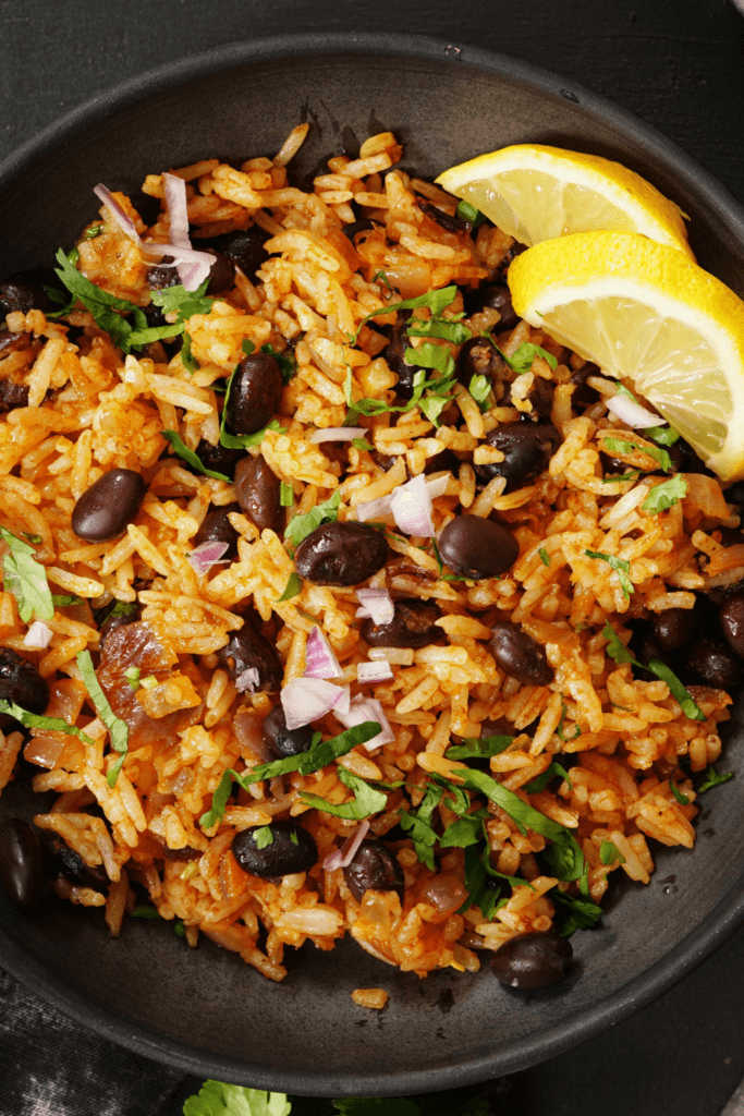 Mexican Rice with Beans and Lemons