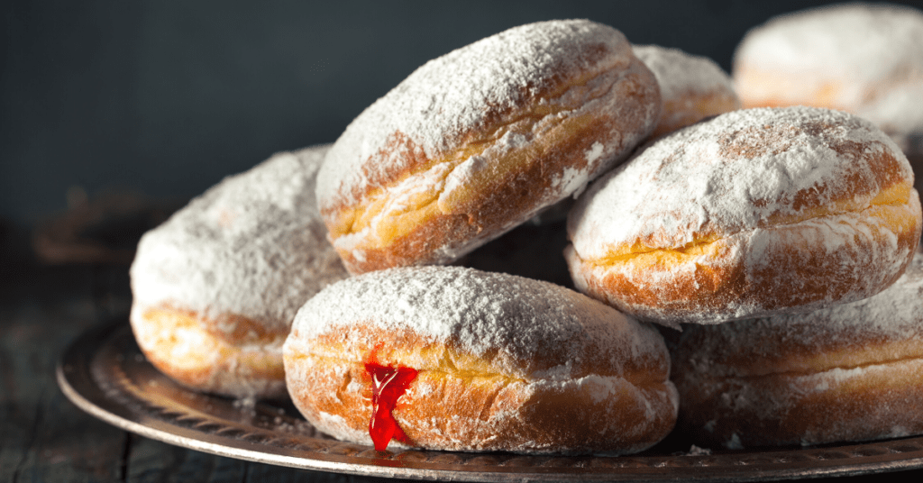 Paczki Donut with Cherry Filling