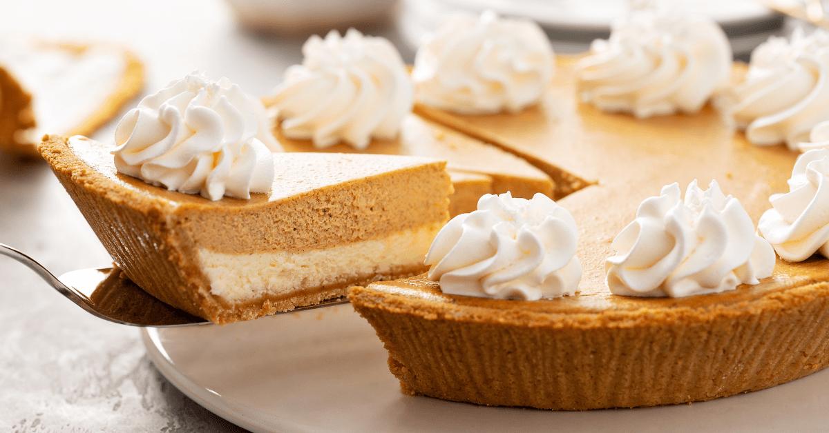 Pumpkin Layered Cheesecake with Whipped Cream