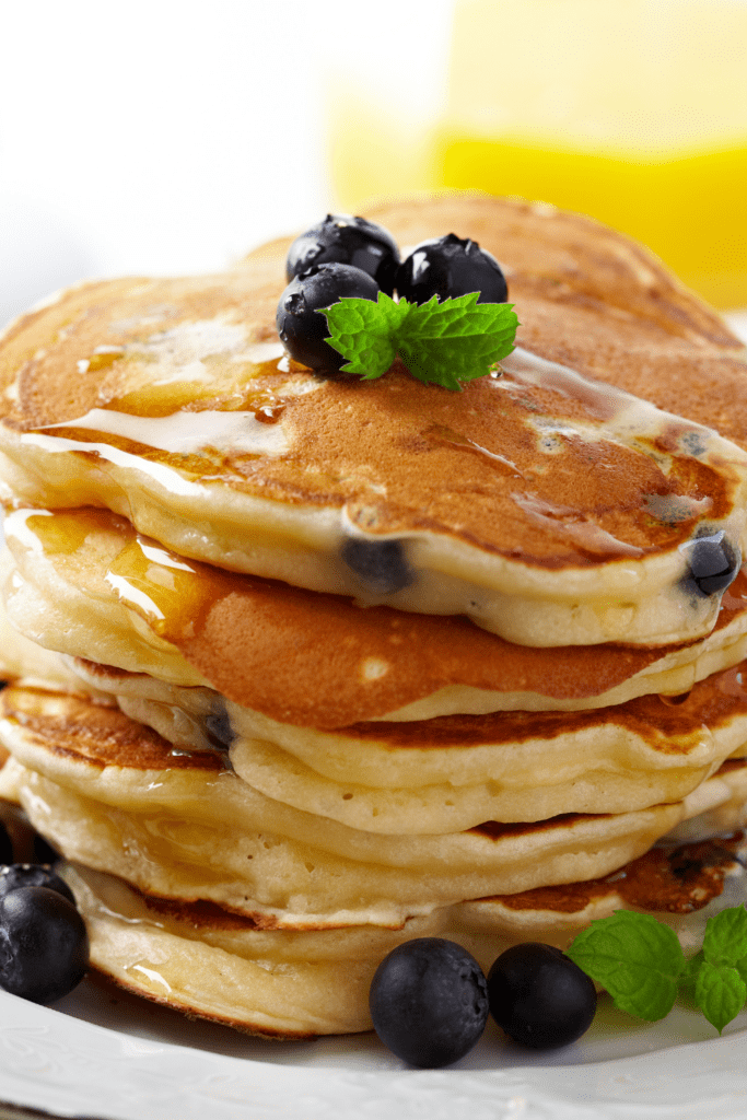 Stacks of Pancakes with Blueberry